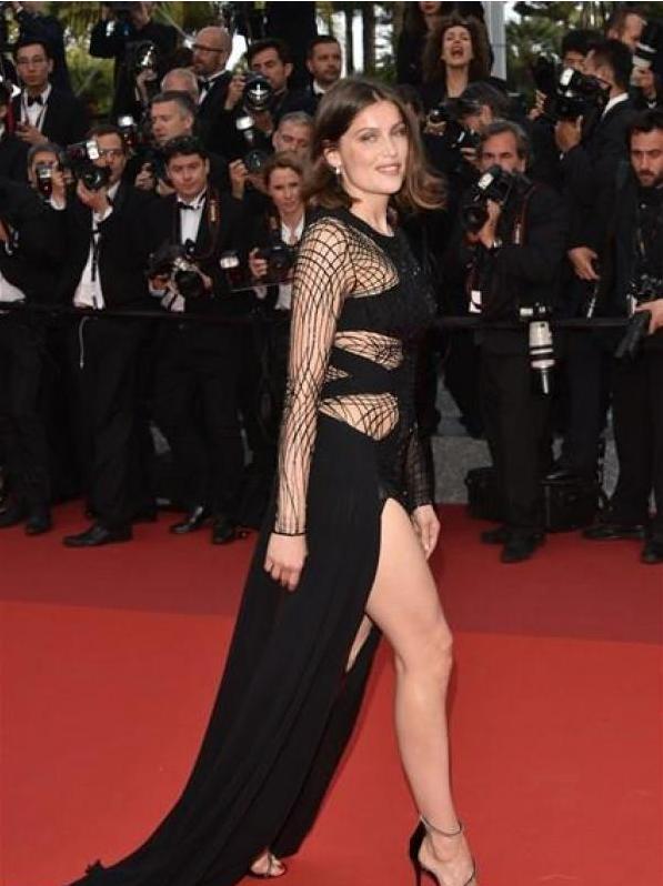 Cannes: et la culotte de Laëtitia Casta!
