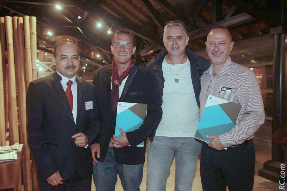 Pierre Hoolodor, Olivier Isautier, PDG Ets Du Mesgnil, Jean-Claude Cléret, gérant de société, et Thierry Fayet, administrateur CGPME