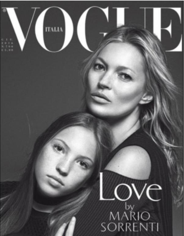 Kate Moss et sa fille stars du Vogue Italie
