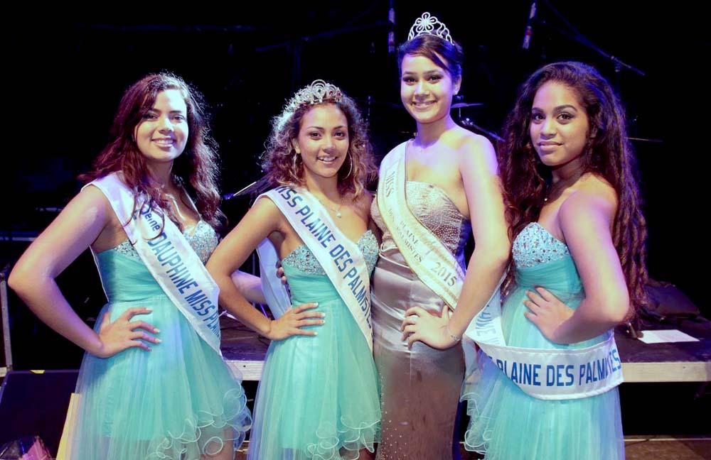 Avec Magali Faustin, Miss Plaine des Palmistes 2015