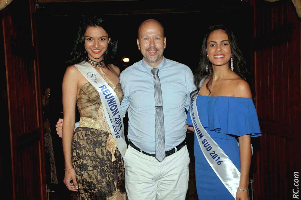 Azuima Issa, Miss Réunion 2015, Patrice Péta, directeur Palm Hotel & Spa*****, Anaïs Picard, Miss Réunion Sud 2016