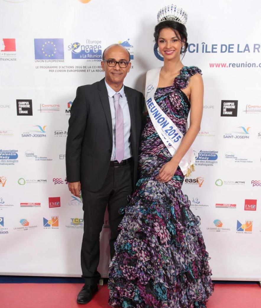 Philippe Naillet, député, et Azuima Issa