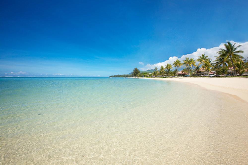 Un lagon et une plage de toute beauté...