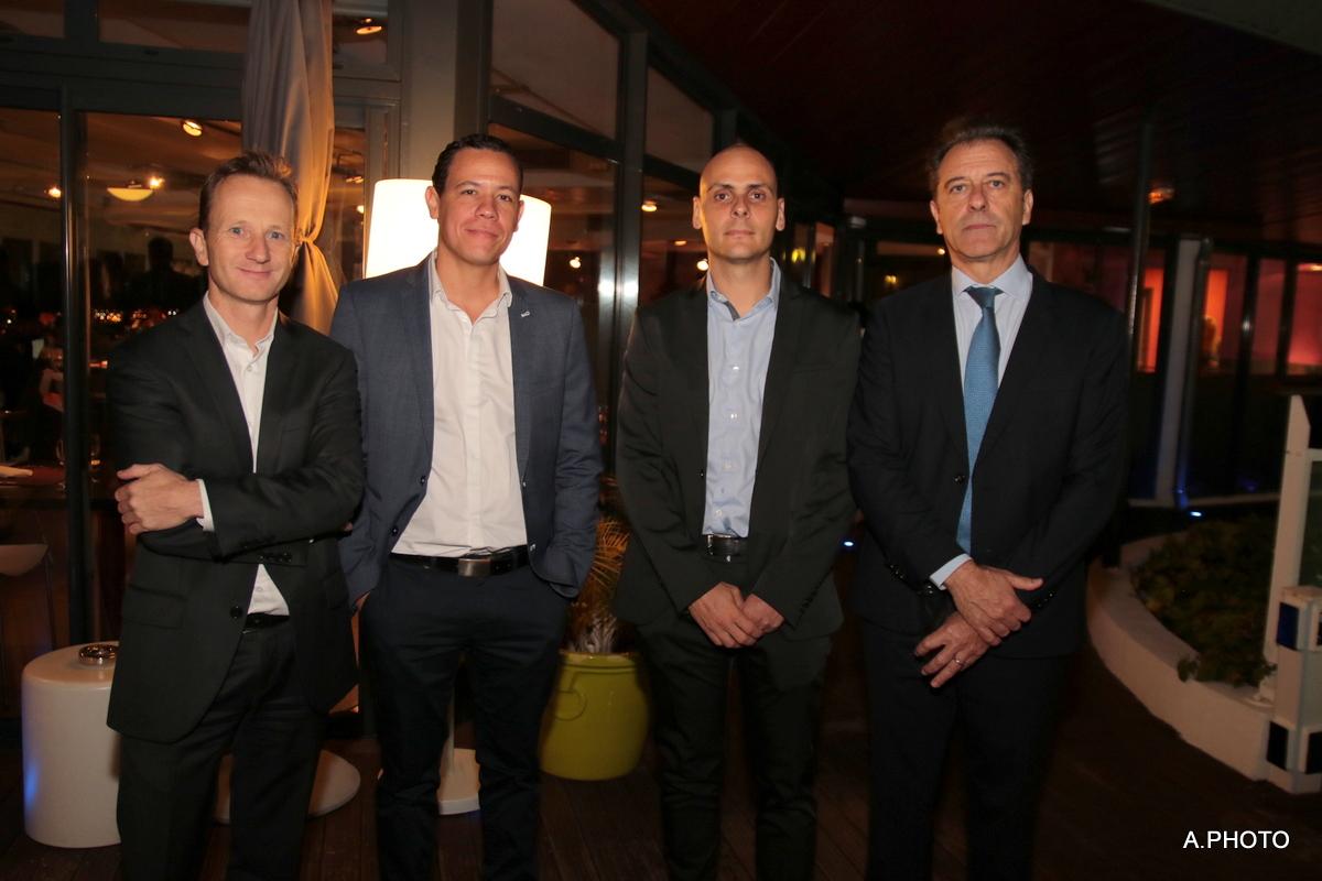 Mr Debard, directeur Ferebam, Mr Petricien, directeur NPS, Mr Leray, directeur Korebam, et Michel Lapeyre