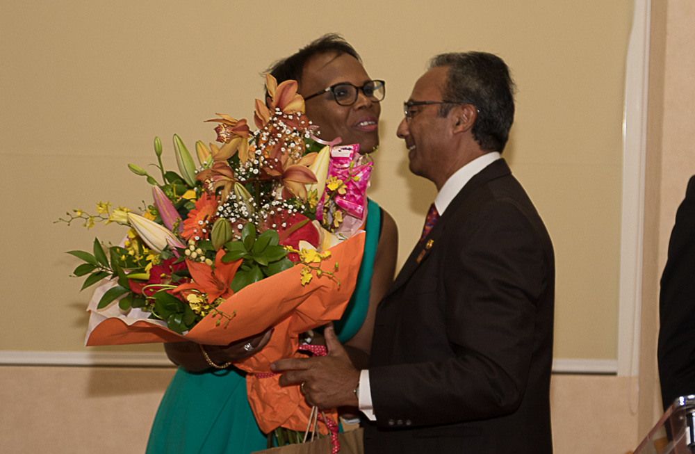 Le bouquet e fleurs pour Louisiane Le Carff, l'épouse de Roland