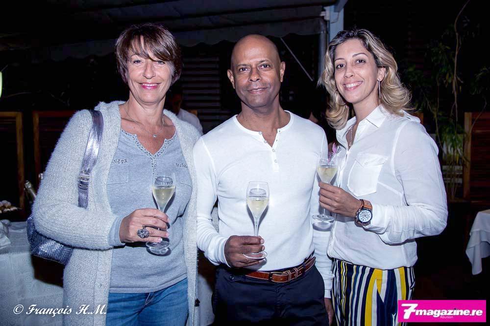 Ghislaine Labat, gérante de Masters & Models, Daniel Ichouza de la Banque de la Réunion, et Magali Bodzen de AG2R La Mondiale