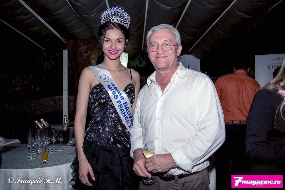 Miss Réunion et Jean-Yves Chaudey du Quotidien