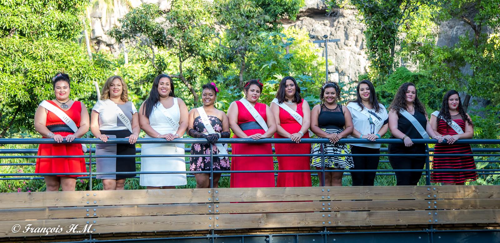 Miss Ronde Réunion 2016<br>Les 10 candidates pour le 16 juillet