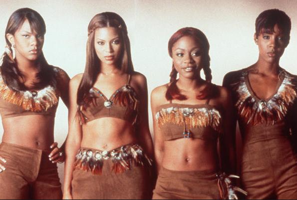 Le groupe d'origine des Destiny's Child: LeToya Luckett, Beyonce Knowles, LaTavia Roberson et Kelly Rowland