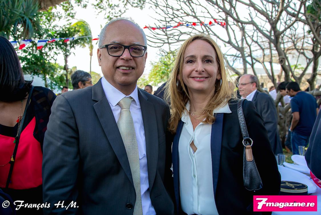 Didier Fauchard, président du Medef Reunion et Sandrine Dunan-Rux secrétaire générale du Medef Réunion