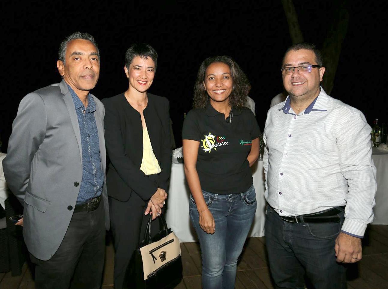 Thierry Jardinot, Carole Chane-Ki-Chune, Marie-Alice Sinaman, et Eric Fontaine,