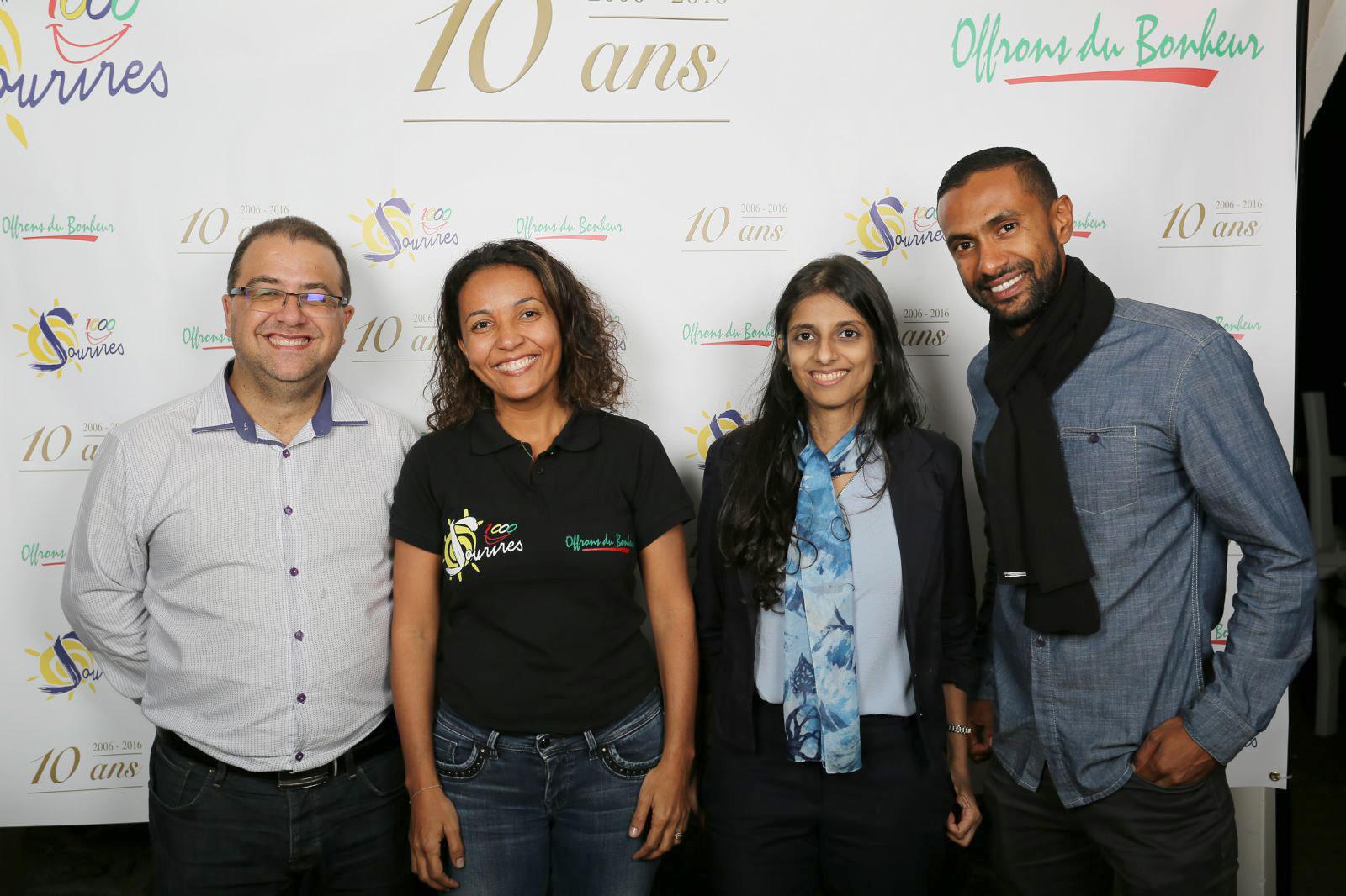 Eric Fontaine, Marie-Alice Sinaman, Nassima Omarjee et Ludovic Permalnaiken
