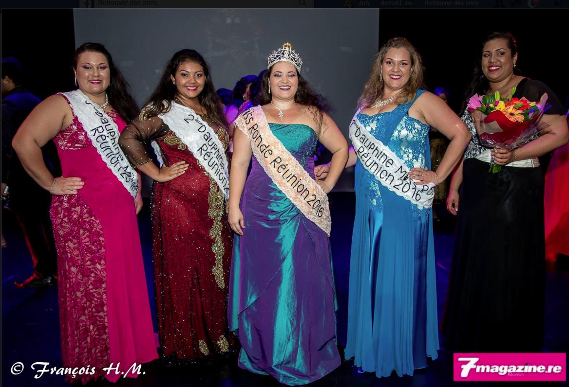 Miss Ronde Réunion 2016 et ses dauphines