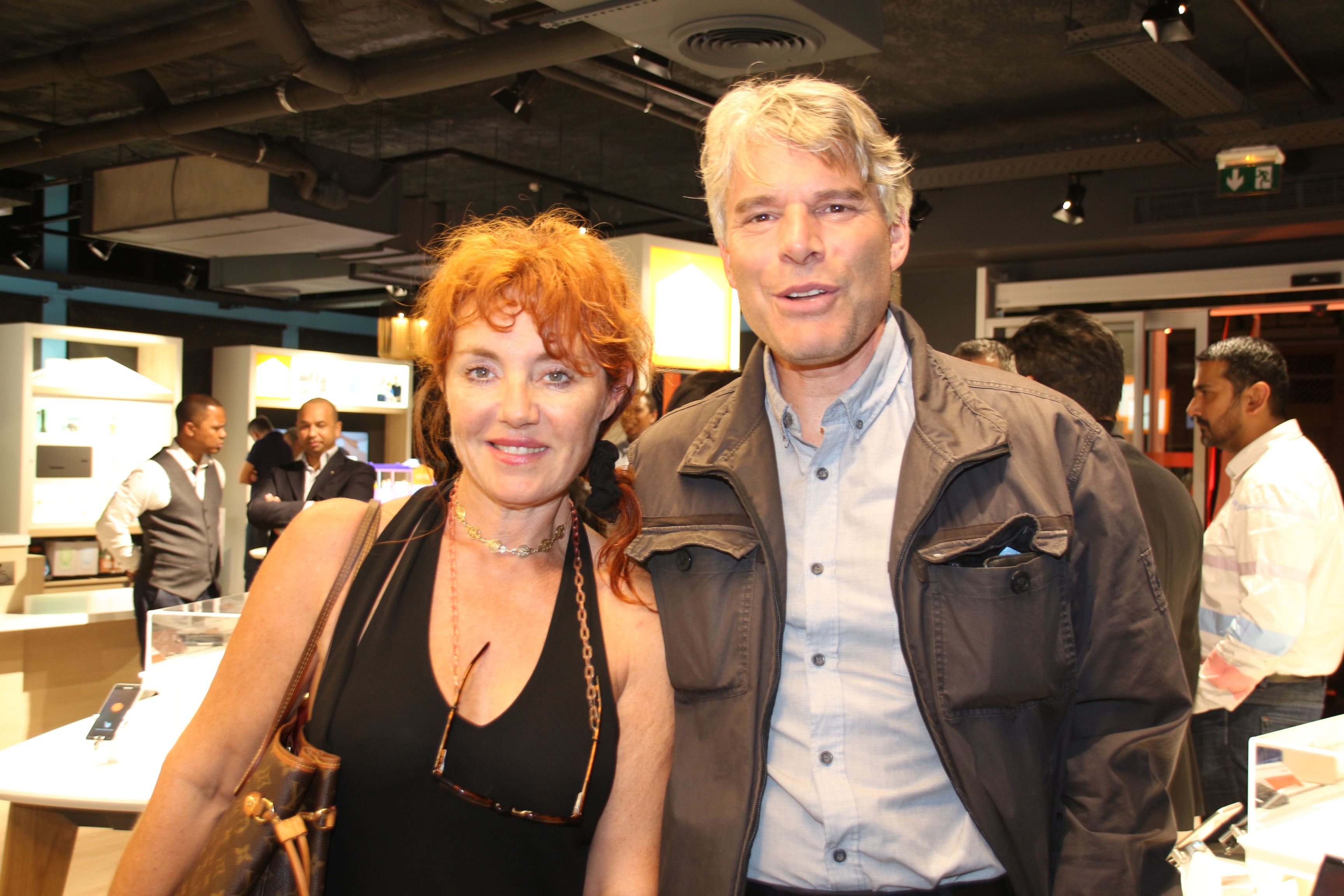 Jean-Marc Demontoy, chef d'état-major de la Direction Départementale de la Sécurité Publique, et son épouse