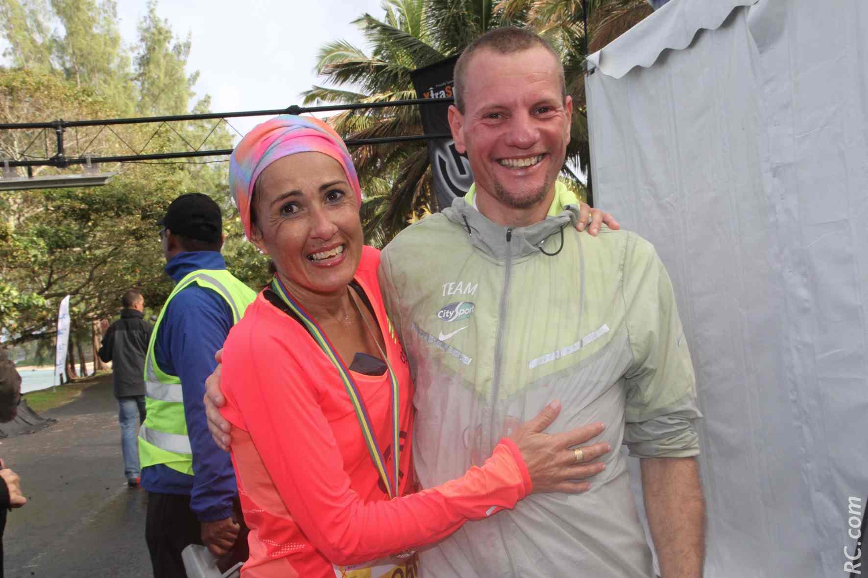 François Lebon et Isabelle Laude, le couple gagnant du semi-marathon