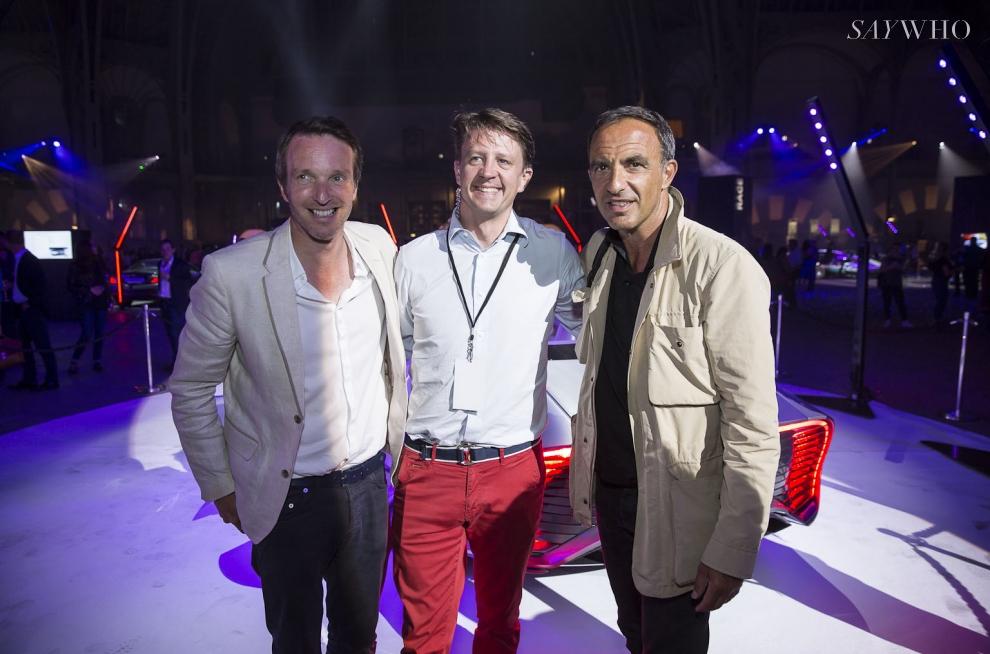Stéphane Rotenberg, Lionel Tromeur et Nikos Aliagas