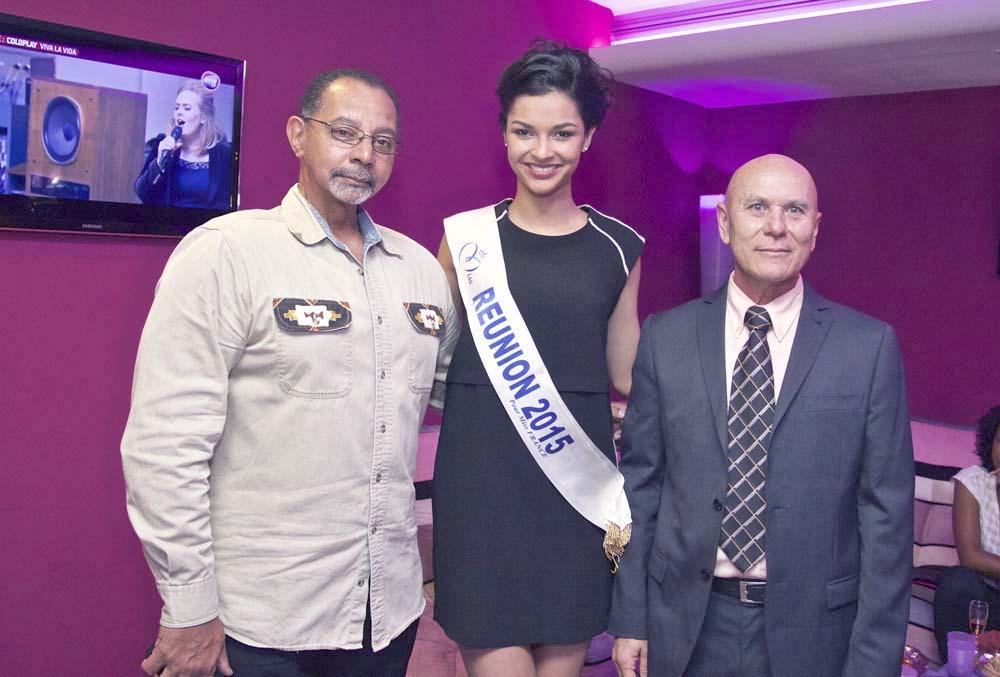 Dominique Fontaine, Azuima Issa, avec le directeur du Casino de Saint-Denis