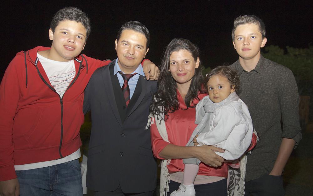 Frédéric Gonthier et sa famille