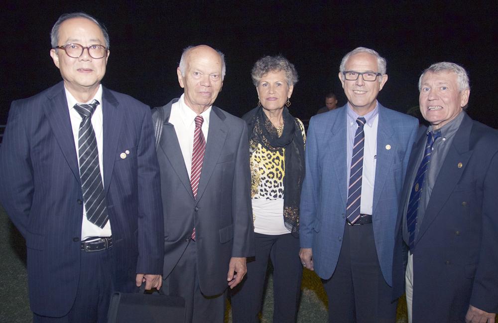 Dominique Tsé, Jean-Marie Lucas et son épouse, Jean-Claude Lacouture et Claude Denuzieres