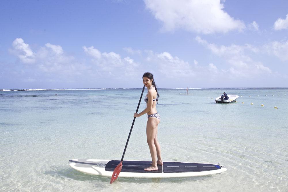 Elle a même fait du paddle...