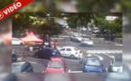 Saint-Paul: Accident spectaculaire devant le Super U