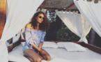 Chloé Mortaud : photo de vacances avec son petit garçon