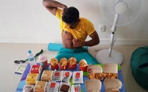Rio: Un athlète engloutit 6 hamburgers, des frites, des nuggets et des brownies