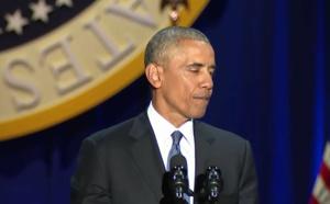 Barack Obama en larmes évoque Michelle