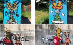 """La réponse au vandale du célèbre graffeur Jace : """"La kouyonis na poin koulèr !"""""""