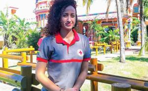 Murielle Chapelin, VSI à l'île Maurice