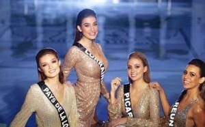 Miss Réunion, cheveux lissés pour un shooting très glamour Miss France