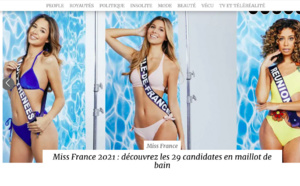 Miss Réunion en Une de Closer en maillot de bain