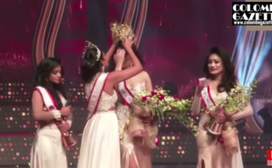 L'ex Miss arrache la couronne de Miss World Sri Lanka: blessure et rebondissement