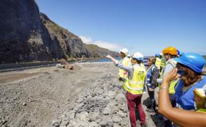 Visite de chantier de la Nouvelle Route du Littoral