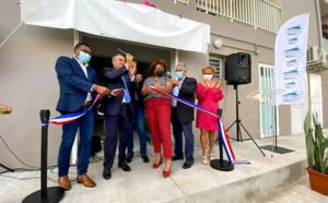 Inauguration de la plate-forme de distribution de colis alimentaire